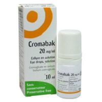 CROMABAK 20 mg/ml, collyre en solution à MONTPELLIER